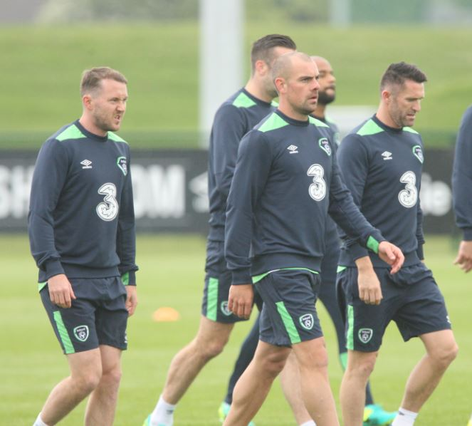 McGeady and Gibson training Pic: Ed Scannell