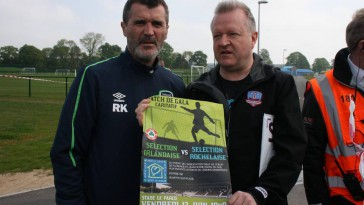 Roy Keane and Tommy Shields promote match